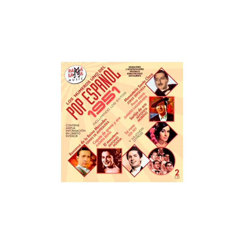 VARIOS - LOS NÚMEROS 1 DEL POP ESPAÑOL 1951 ( RO-53872 )
