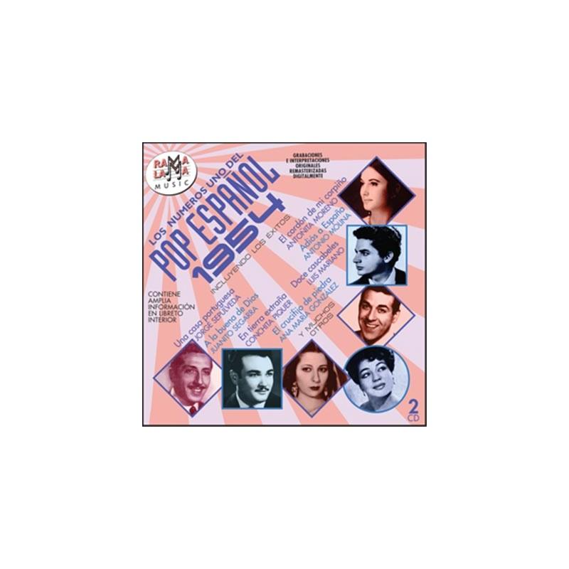 VARIOS - LOS NÚMEROS 1 DEL POP ESPAÑOL 1954  ( RO-54132 )
