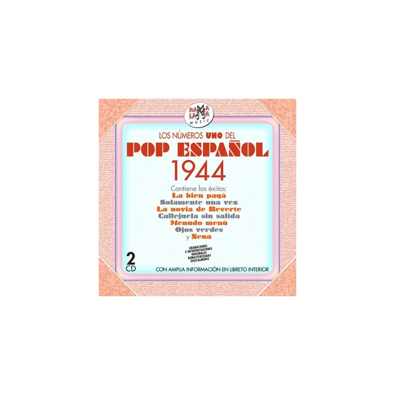 VARIOS - LOS NÚMEROS 1 DEL POP ESPAÑOL 1944  ( RO 55492 )